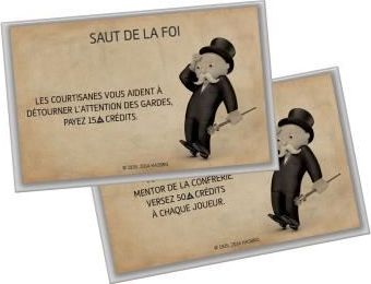 Carte chance du Monopoly Assassin