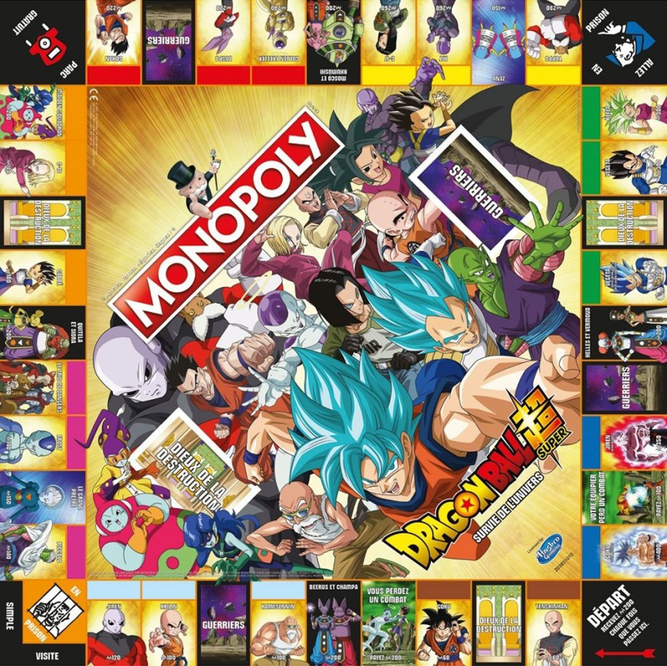 Plateau du Monopoly Dragon Ball Super