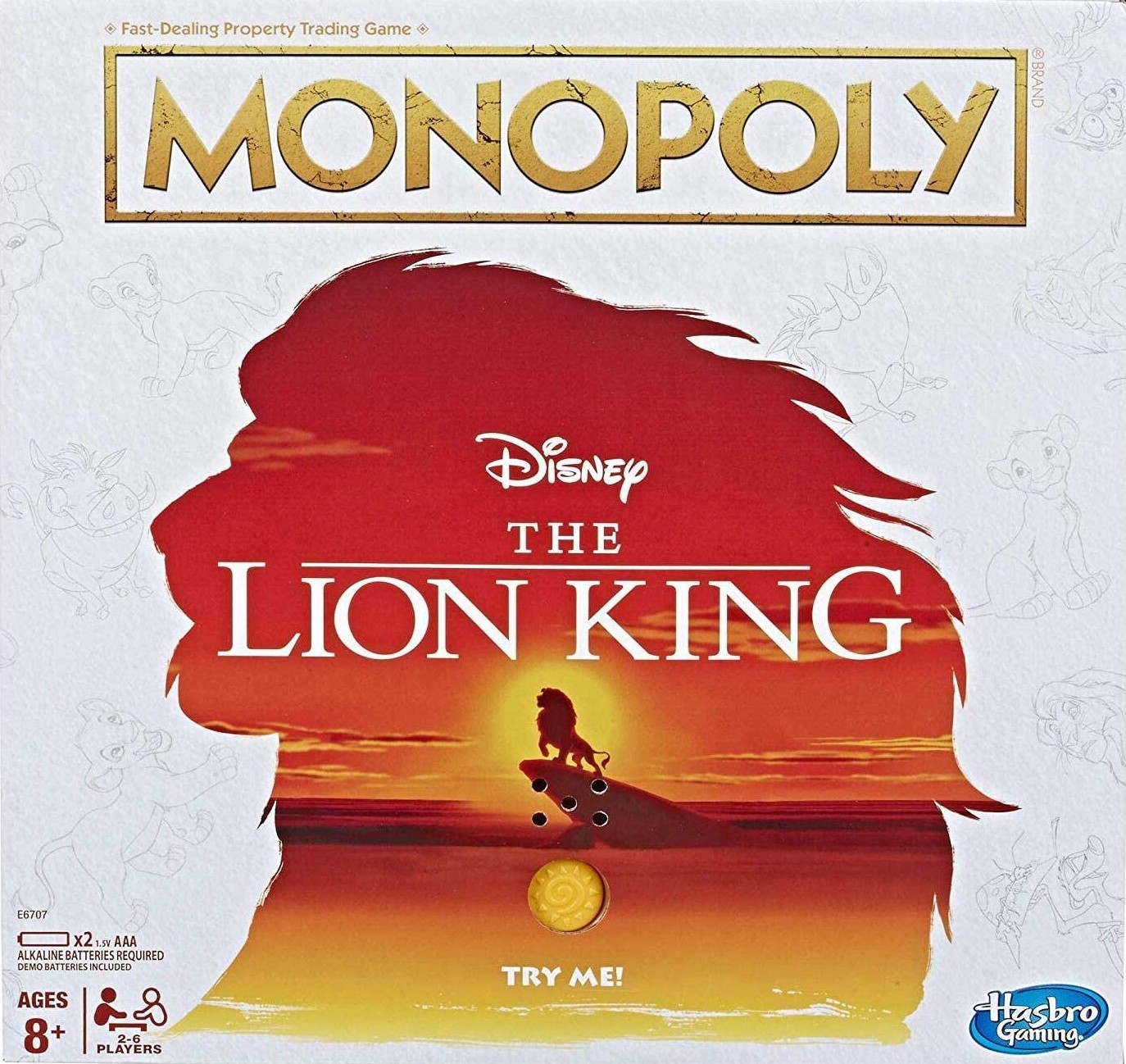 Boite du Monopoly The Lion King