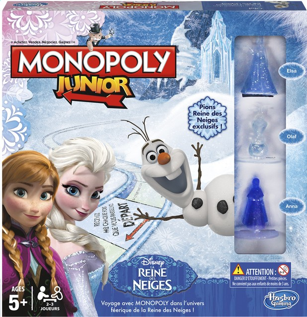 monopoly junior reine des neiges. Black Bedroom Furniture Sets. Home Design Ideas