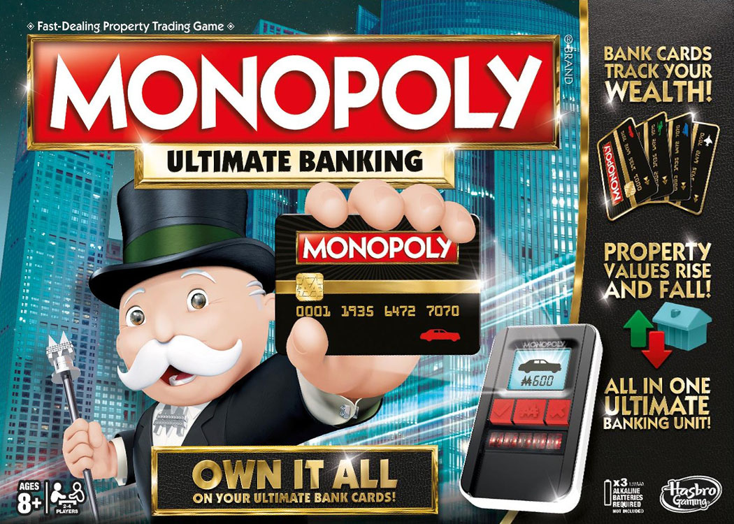 Boîte de la version américaine du Monopoly Electronique Ultime - Ultimate Banking