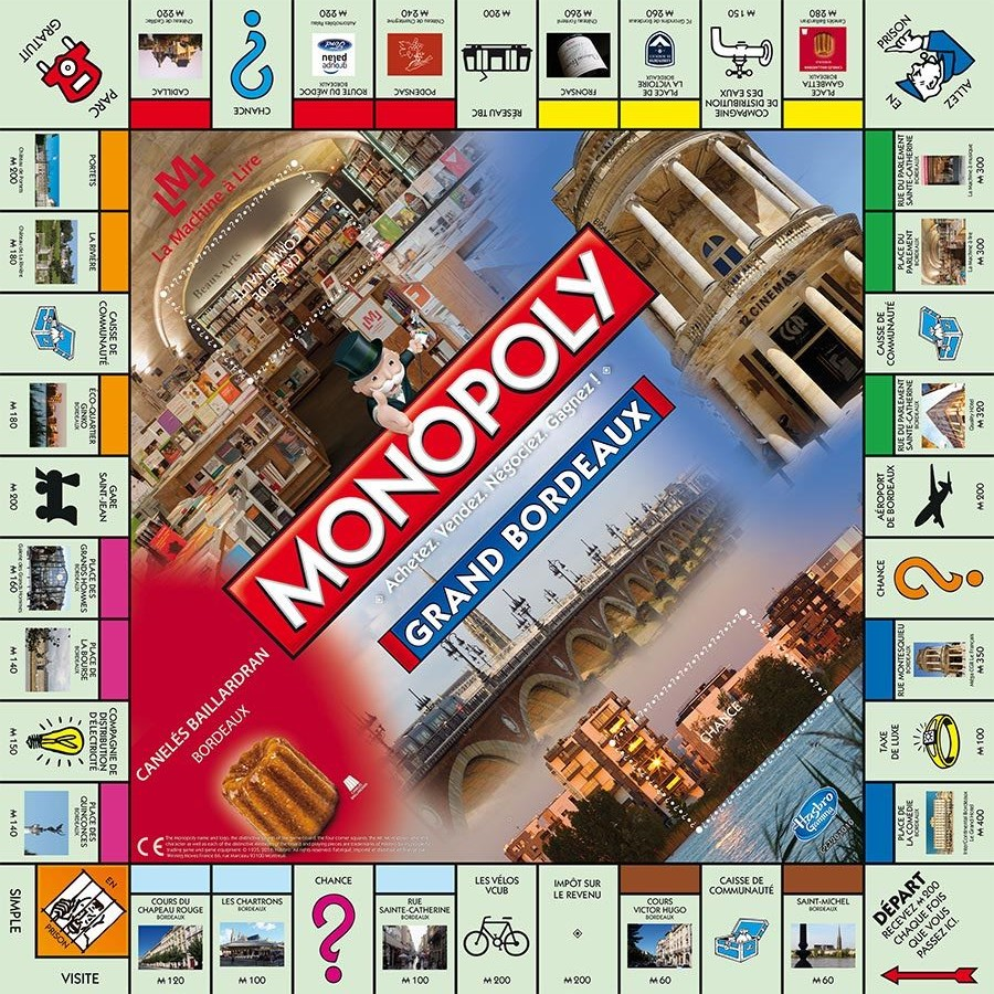 Plateau du Monopoly Grand Bordeaux