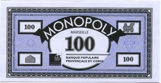 Billets du Monopoly Marseille (version 1)