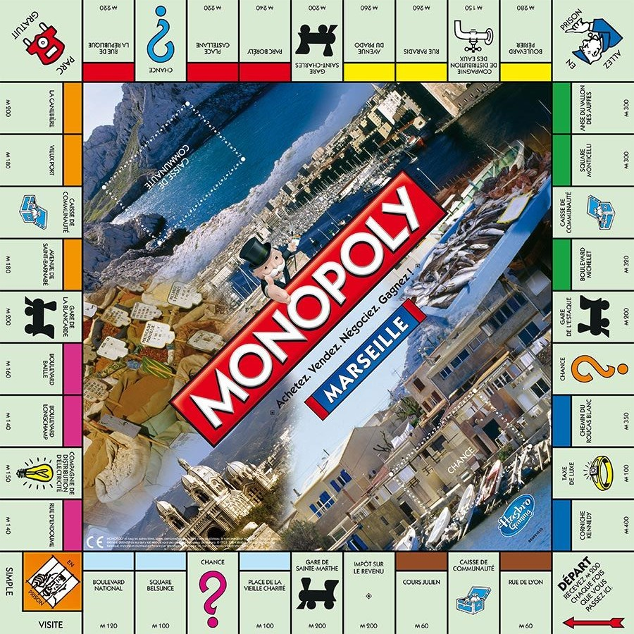 Plateau du Monopoly Marseille (version 2014)