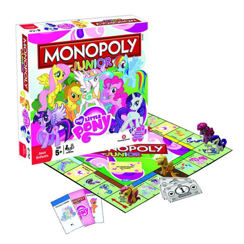 Vue détaillée du Monopoly Junior - My Little Pony