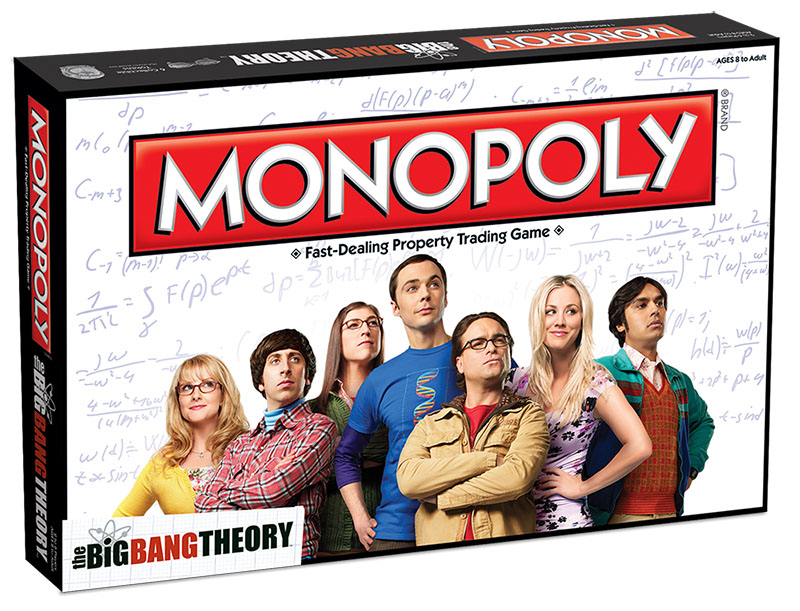 Boîte en 3d du Monopoly The Big Bang Theory
