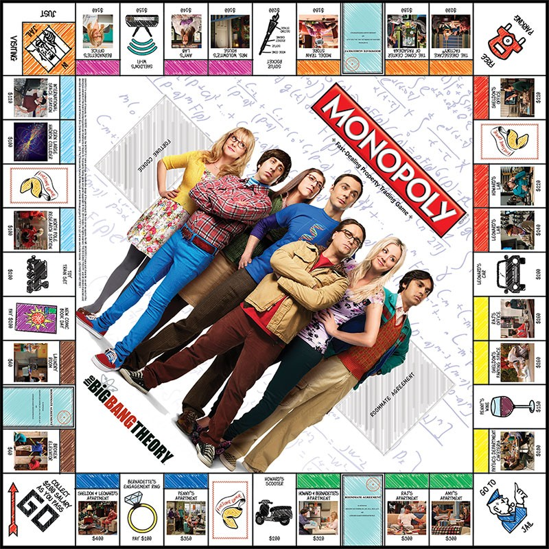 Plateau du Monopoly The Big Bang Theory