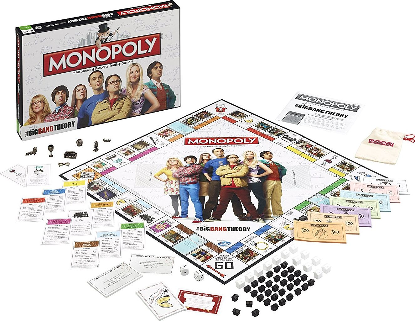 Vue complète du Monopoly The Big Bang Theory