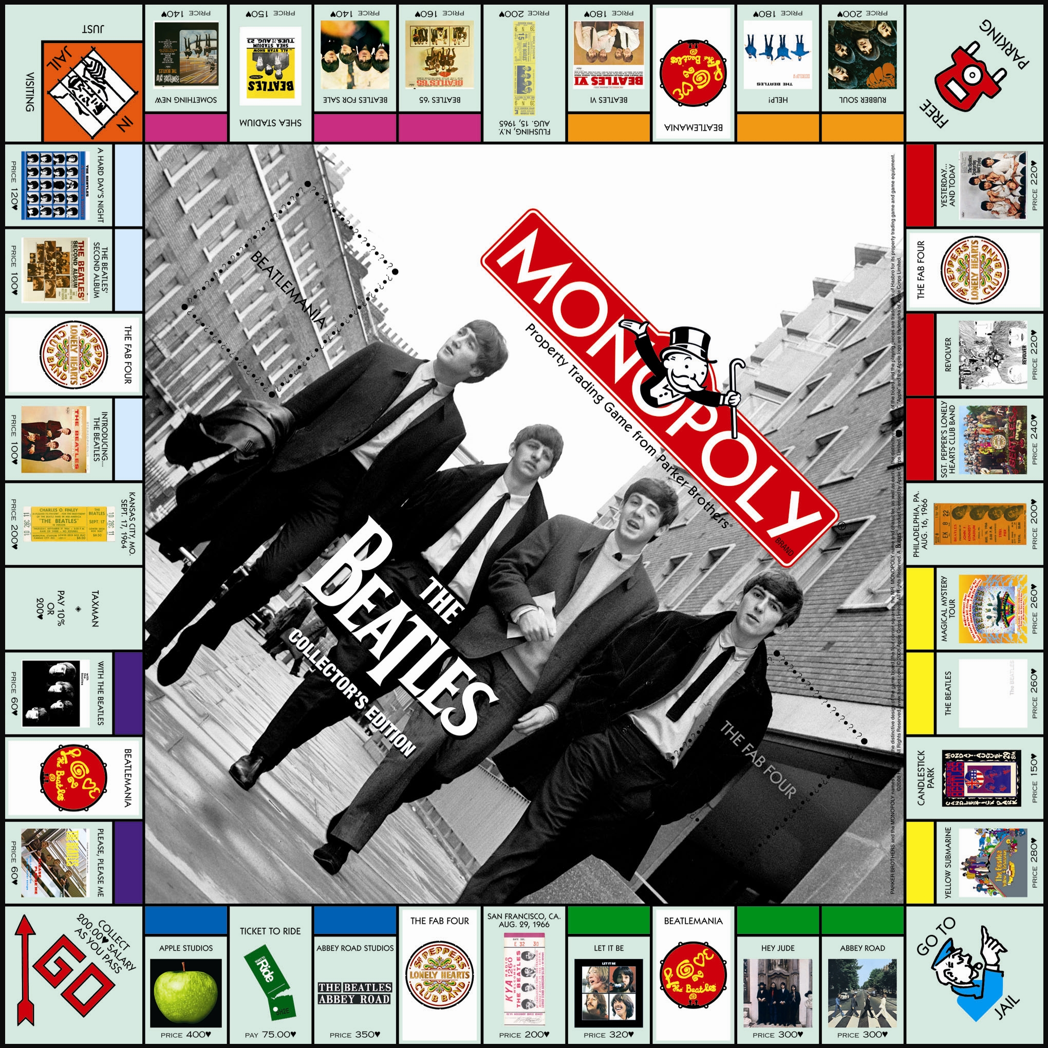 Plateau du Monopoly The Beatles (version 1)