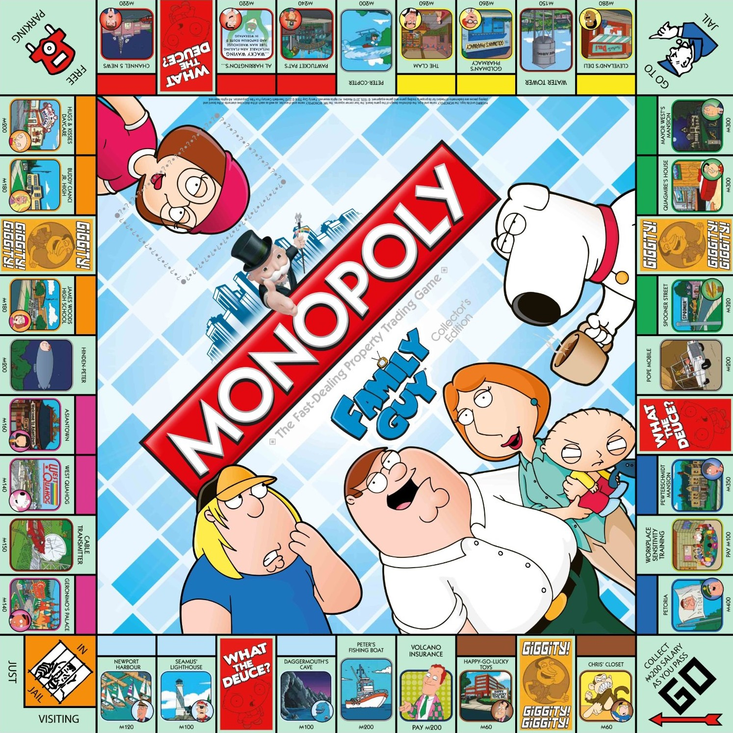 Plateau du Monopoly Family Guy