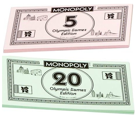 Billets du Monopoly London 2012