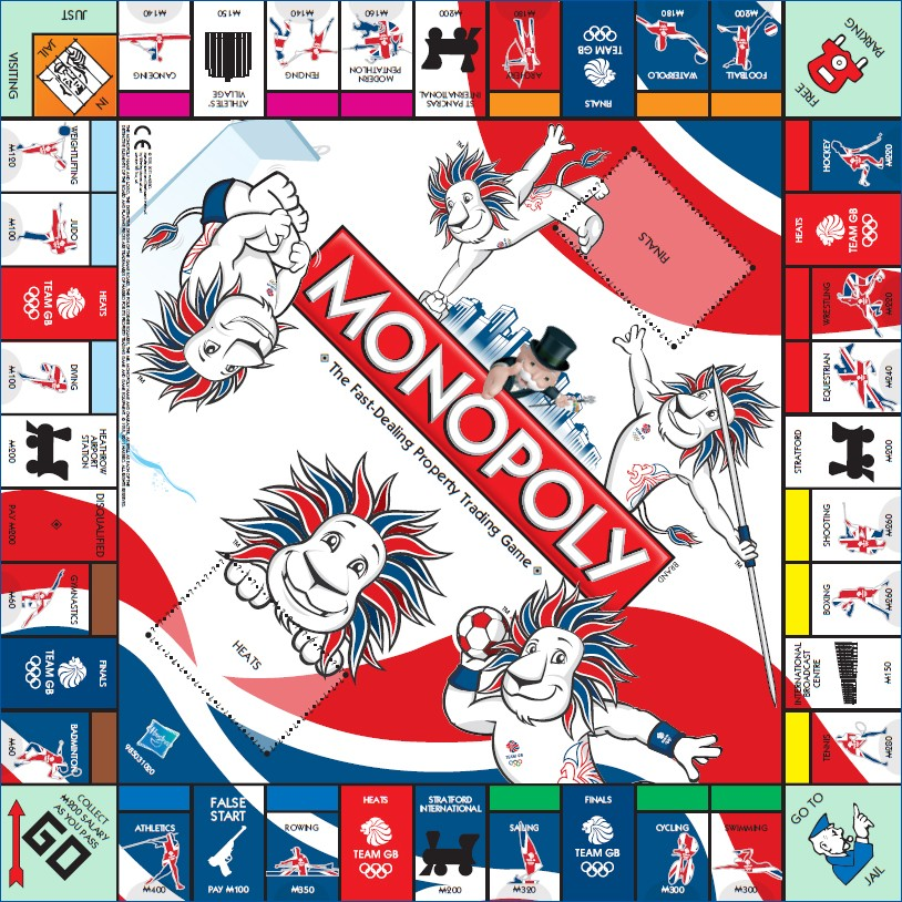 Plateau du Monopoly Team GB