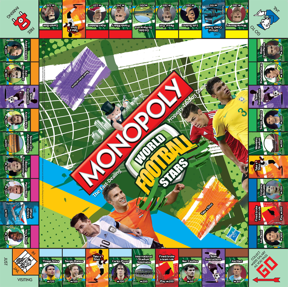 Plateau du Monopoly World Football Stars