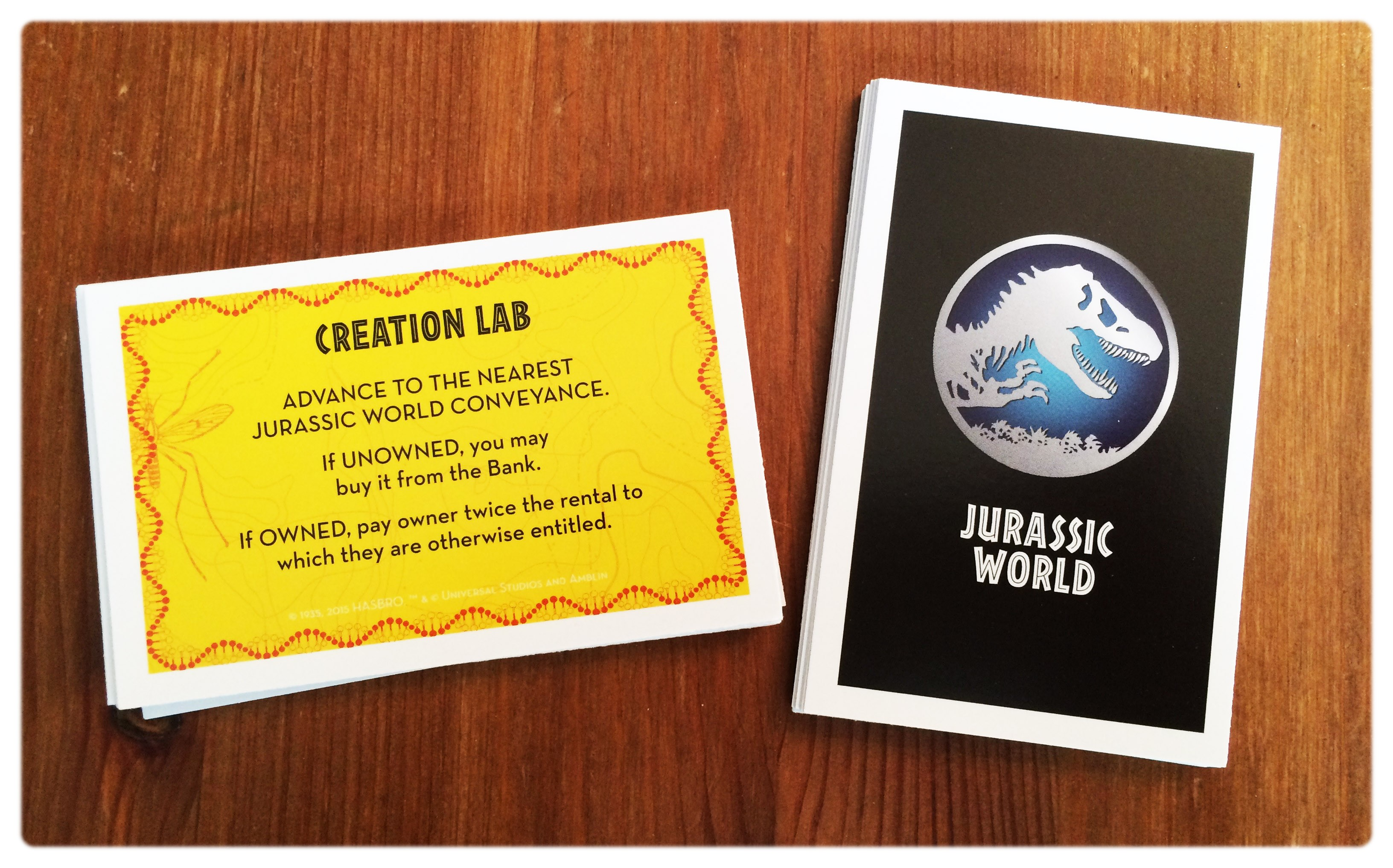 Carte chance du Monopoly Jurassic World