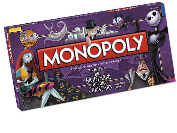 Boite en 3 dimensions du Monopoly The Nightmare Before Christmas