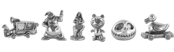 Pions du Monopoly The Nightmare Before Christmas