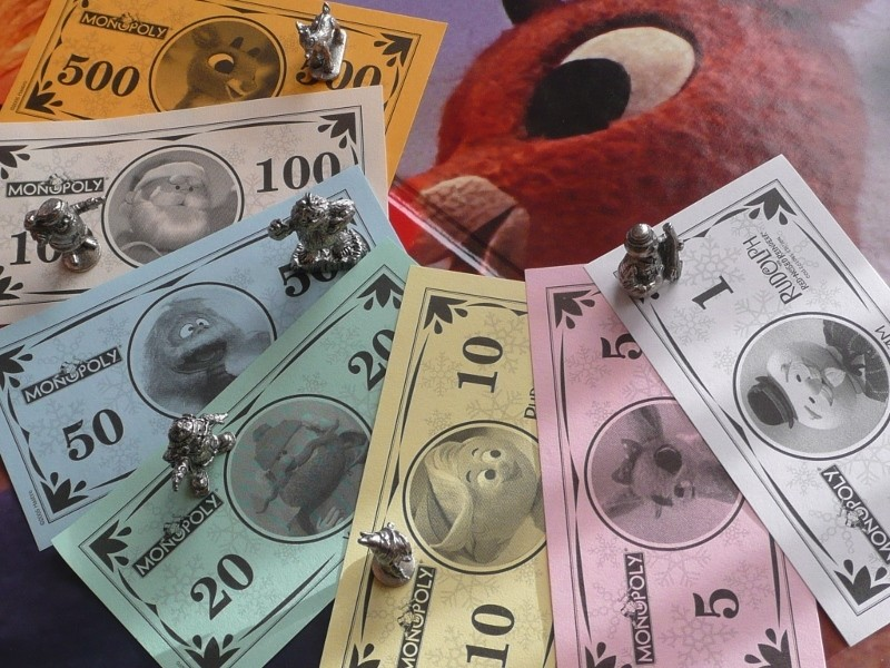 Billets du Monopoly Rudolph the Red-Nosed Reindeer