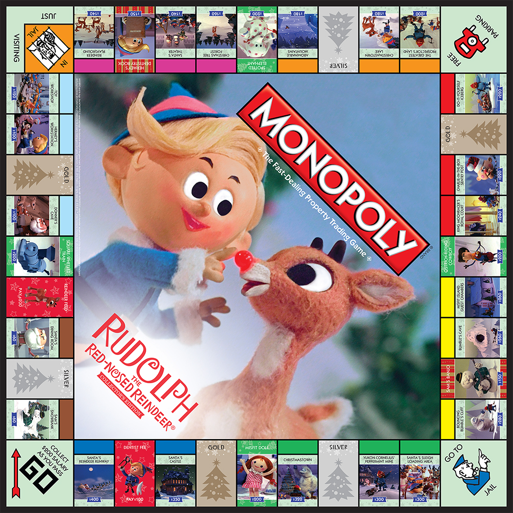 Plateau du Monopoly Rudolph the Red-Nosed Reindeer