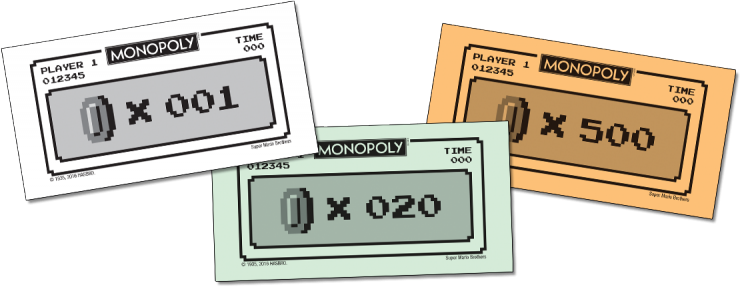 Billets du Monopoly Super Mario Bros