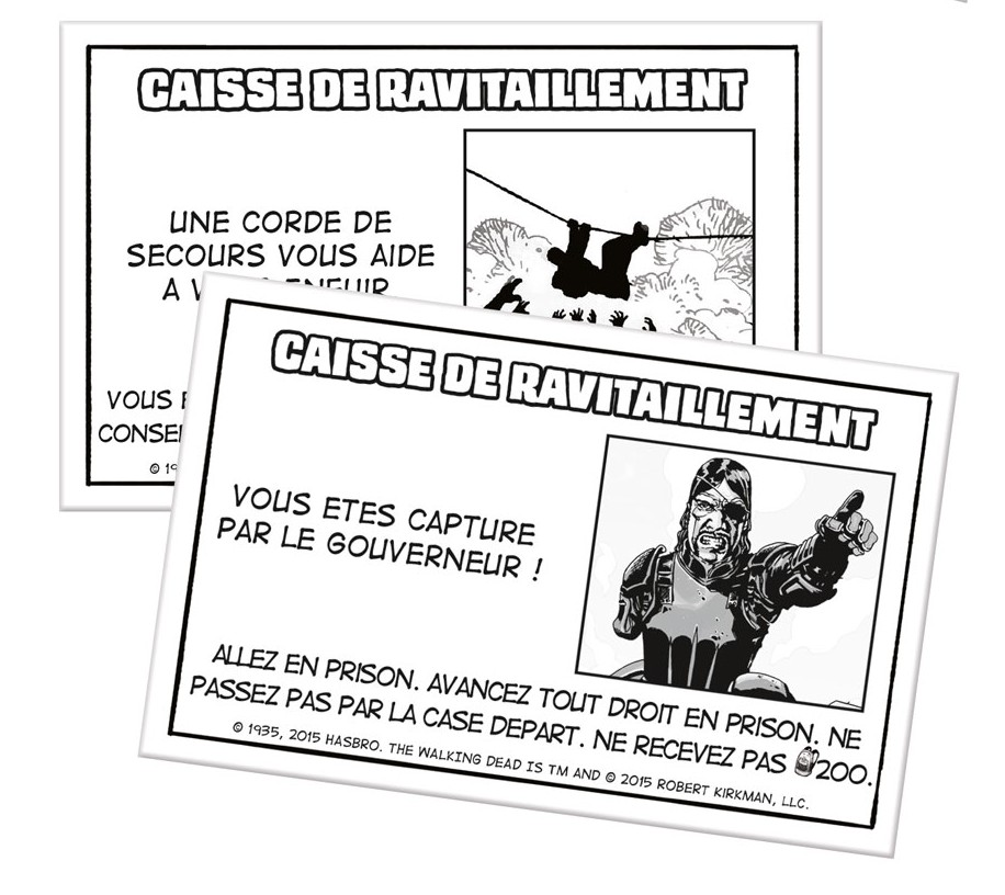 Carte chance du Monopoly The Walking Dead