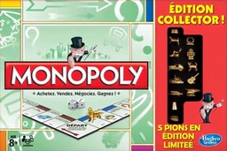 Boite du Monopoly Collector avec 5 pions en édition limitée