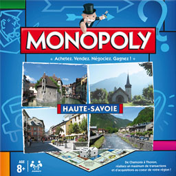 Boite du Monopoly Haute Savoie (version 2014)
